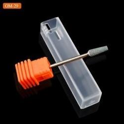 OM29. 1 x Kerámia kő köröm fúrófej 3/32 &quot Forgassa a Burr Cuticle Clean Manikűr eszközöket