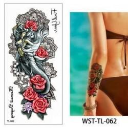 * 62. Vízálló szexi test mellkasi Art 3D virág ideiglenes matricák Arm tetoválás matricák