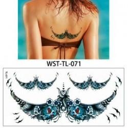 * 71. Vízálló szexi test mellkasi Art 3D virág ideiglenes matricák Arm tetoválás matricák