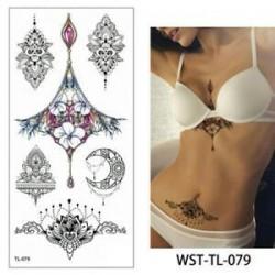 Vízálló ideiglenes Tetoválás nőies mintával - vízálló matrica - 79. verzió