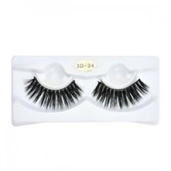 1 Pair -3D * 24. Új smink kézzel készített természetes vastag hamis szempillák hosszú szem szempillák kiterjesztése JP