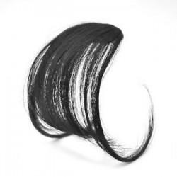 Természetes fekete. Forró vékony légáramlatok Az emberi hajhosszabbítások a Fringe elülső hajvágójára illeszkednek