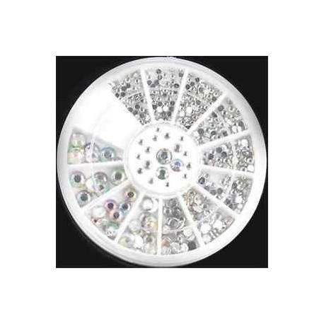 153 *. Nagykereskedelmi 3D Akril Nail Art tippek Dekoráció Glitter strasszos DIY kerék szettek