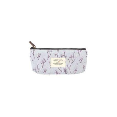 Kék. Vintage virág virág ceruza toll tok táska kozmetikai smink tároló táska pénztárca eszköz