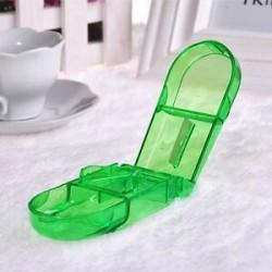 Zöld. Kényelmes tárolódoboz Gyógyszerpapír tartó Tabletvágó Splitter Divider eszköz