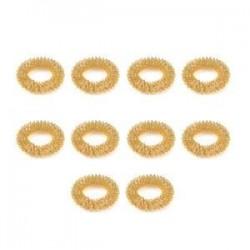 10db arany. 10db ujjmasszázs gyűrű akupunktúrás egészségügyi ellátás test akupresszúrás masszírozó Új