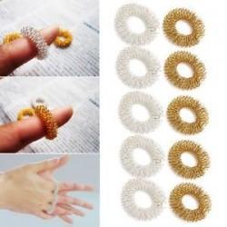 5 / 10Pcs ujjmasszázs gyűrű akupunktúrás egészségügyi ellátás akupresszúrás masszírozó