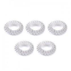 5db ezüst. 5 / 10Pcs ujjmasszázs gyűrű akupunktúrás egészségügyi ellátás akupresszúrás masszírozó