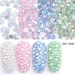 Csillogó kristályos - strasszos dísz körömhöz - műkörömhöz - Vegyes méretben - SS4-SS20