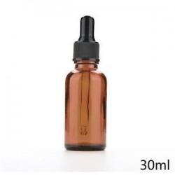 30ml. 5ml-100 ml üveg folyékony reagens Pipettázzunk üvegcseppentő Aromaterápiás borostyán
