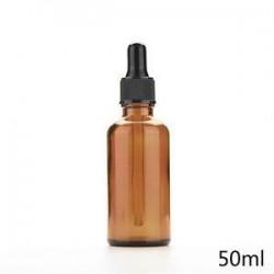 50ml. 5ml-100 ml üveg folyékony reagens Pipettázzunk üvegcseppentő Aromaterápiás borostyán