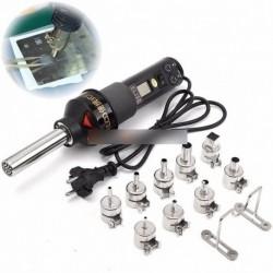 450W 220V LCD kijelző elektronikus hő hőlégfúvó Forrasztó állomás   fúvókák