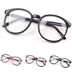 Divat Unisex világos lencse szemüveg keret Retro kerek férfi nők Nerd szemüveg