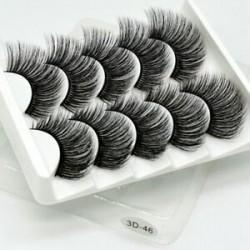5Pairs 3D Mink Hair False szempillák kiterjesztése vastag, hosszú, tiszta, szemhéjfesték eszköz