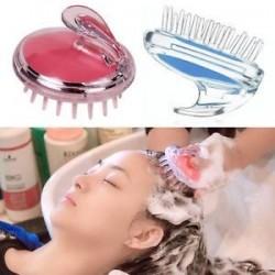 Szilikon sampon fejbőr zuhanyzó mosás hajmasszázs masszírozó kefe Comb 1PCS