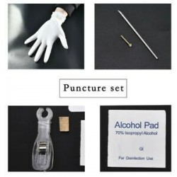 Ezüst Eldobható Piercing Kit steril tűcsomó nyelv testgyűrű szerszámkészlet