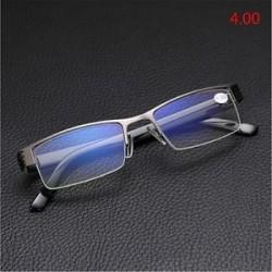 4.00. Kiváló minőségű férfi fél keret stílus kék film sugárzás elleni védelem Olvasóüvegek Új