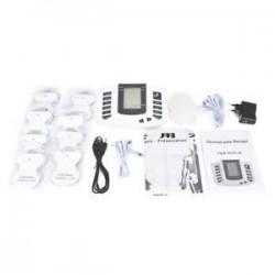 EU Plug. Elektromos izomlazító stimuláló masszírozó tíz akupunktúrás terápiás gép