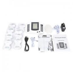 US Plug. Elektromos izomlazító stimuláló masszírozó tíz akupunktúrás terápiás gépkészlet