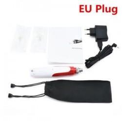 Anti-Aging Electric Derma Pen bélyegző Auto Micro tűgörgő 2 patronnal