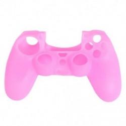 Rózsaszín - Szilikonfedő bőr tok Protector tartozékok PS4 Playstation 4 vezérlőkhöz