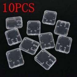 10PCS átlátszó szabványos SD SDHC memóriakártya tok tartó doboz tároló műanyag