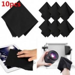 10db / készlet fekete prémium mikroszálas tisztító kendő a kamera lencséjének LCD képernyőjéhez