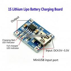 TP4056 5V Mini USB 1A 18650 lítium akkumulátor Mini Charging panel töltő modul