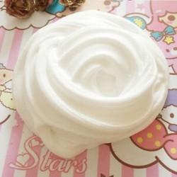 fehér - Színes bolyhos Floam Slime illatos stressz-mentesítő játék Nincs boraxiszap gyerekjáték