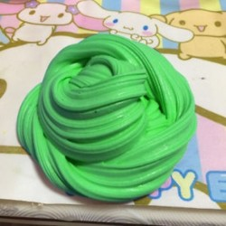 Zöld - Színes bolyhos Floam Slime illatos stressz-mentesítő játék Nincs boraxiszap gyerekjáték