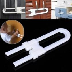 1 x Gyermek csecsemő gyerekbiztonsági fiókos ajtószekrény szekrény U alakzatzáró eszköz