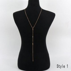 Arany - Arany Celebrity női arany ezüst test hasa derék lánc Bikini Beach kábelköteg nyaklánc