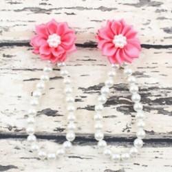 Görögdinnye piros - Görögdinnye piros Nyári csecsemő gyerekek baba lány virág gyöngy mezítláb gyűrű láb karkötő