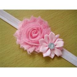 Rózsaszín - Rózsaszín 1x kedves gyerek baba lány kisgyermek csecsemő virág fejpánt haj íj zenekar tartozékok