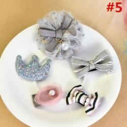 * 5 5Pcs / Set - * 5 5Pcs / Set 1 készlet gyerekek baba lány haj klipek készlet Bowknot virág szív korona fejfedők