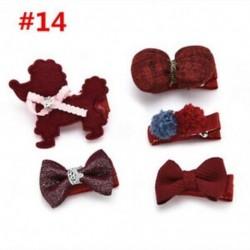 * 14 5Pcs / Set - * 14 5Pcs / Set 1 készlet gyerekek baba lány haj klipek készlet Bowknot virág szív korona fejfedők