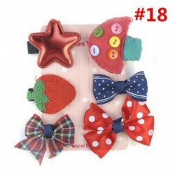 * 18 6Pcs / Set - * 18 6Pcs / Set 1 készlet gyerekek baba lány haj klipek készlet Bowknot virág szív korona fejfedők