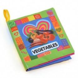 Zöldségek - Zöldségek Baby Kids Child Intelligence fejlesztése Cognize Soft Cloth Book oktatási játék