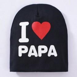 Fekete &amp  PAPA - Fekete &amp  PAPA Új kisgyermek gyerekek puha pamut téli meleg beanie kalap csecsemő baba fiú lány