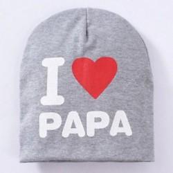 Szürke és PAPA - Szürke és PAPA Új kisgyermek gyerekek puha pamut téli meleg beanie kalap csecsemő baba fiú lány sapka
