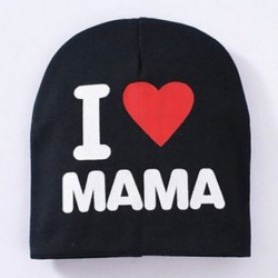 Fekete &amp  MAMA - Fekete &amp  MAMA Új kisgyermek gyerekek puha pamut téli meleg beanie kalap csecsemő baba fiú lány