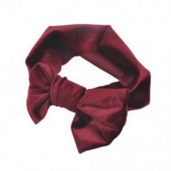 Bor vörös - Bor vörös Puha baba / lányok gyerekek kisgyermek íj hajpánt fejpánt Turban nagy csomó fej-Wrap JP