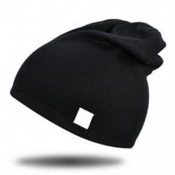 Fekete - Fekete Újszülött gyerekek puha pamut pamut téli meleg kalap fiú lány csecsemő sapka sapka