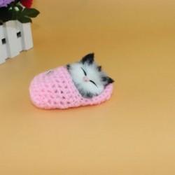 Rózsaszín - Rózsaszín Hot Lifelike Kid Toys aranyos plüss macska lágy baba Lifelike szimulációs hang játékok