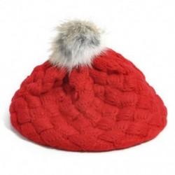 Piros - Piros Aranyos baba gyerekek lányok kisgyermek téli meleg kötött horgolt beret sapka sapka kalap