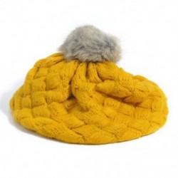 Sárga - Sárga Aranyos baba gyerekek lányok kisgyermek téli meleg kötött horgolt beret sapka sapka kalap