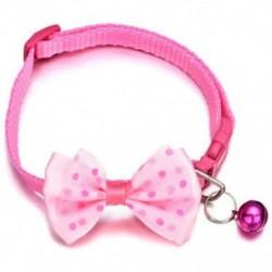 Rózsaszín - Rózsaszín Kisállat macska kutya Bowknot harang kisállat csokornyakkendő nyakkendő nyakörv cica kölyök