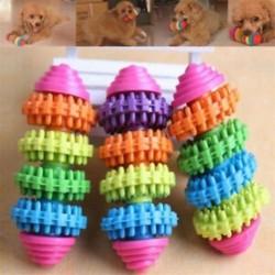 * 7 1db színes játék (7,5 cm) - * 7 1db színes játék (7,5 cm) Új kiskutya kutya macska fogászati fogak Egészséges