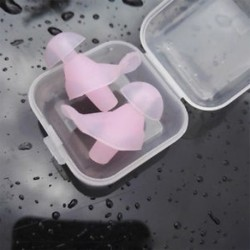 * 1 Pink Puha szilikon elleni zajhabos fül füldugók Újrafelhasználható komfortos úszás alvó munkapadhoz