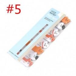 * 5 Cartoon Animal Panda macska Memo Pad matricák Öntapadó jegyzetek iskolai helyhez kötött eszköz